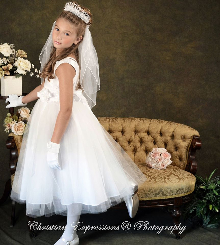 first communion dresses | first communion veils